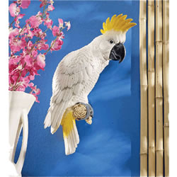 Small Image of Citron Cockatoo Resin Garden Ornament by Design Toscano