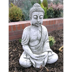 Small Image of Extra Large Stone Buddha Garden Ornament - BD29