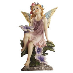 Small Image of Fairy Dust Twin: Flower Garden Ornaments by Design Toscano