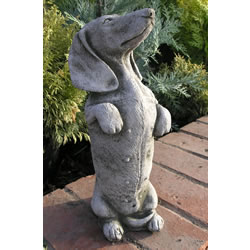 Small Image of Kippy The Dachshund Garden Ornament Statue