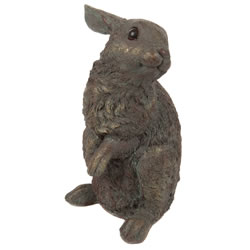 Small Image of Bronze Effect Finish Standing Hare Ornament