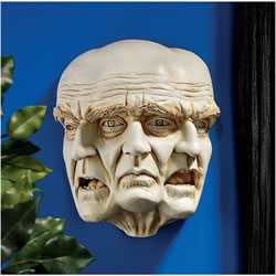 Small Image of The Nightmare Wall Sculpture Resin Ornament by Design Toscano