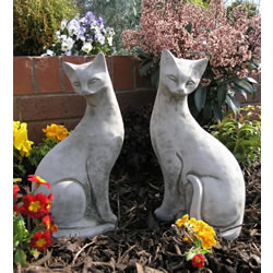Small Image of Pair of Siamese Cats Garden Ornaments - CT7/CT8