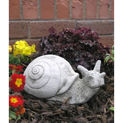 Small Image of Cecil The Snail Stone Garden Ornament