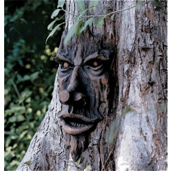 Small Image of Spirit of Nottingham Woods Greenman Resin Garden Ornament