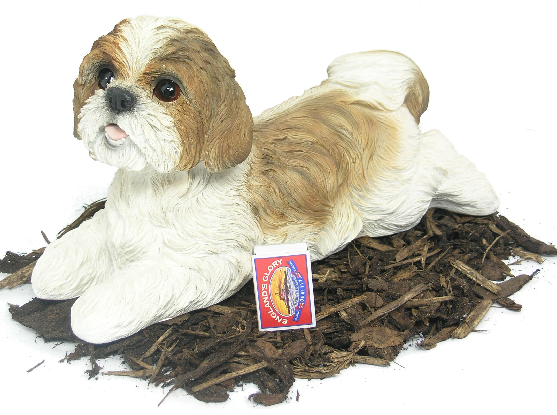 Awesome Shih Tzu   Dog Resin Garden Ornament