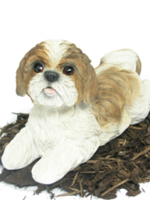 Perfect Image Of Shih Tzu   Dog Resin Garden Ornament