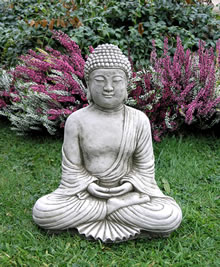 Image of Small Robed Buddha Garden Ornament - BD6