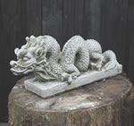 Snaking Dragon Stone Garden Ornament Statue