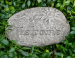 Small Image of Welcome Stone Garden Plaque