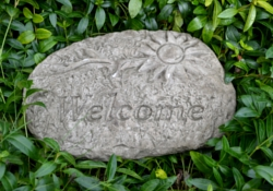 Image of Welcome Stone Garden Plaque