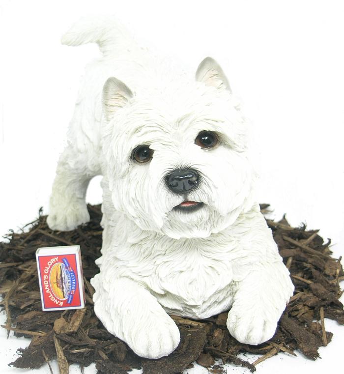 West Highland Terrier Dog Resin Garden Ornament 163 29 99