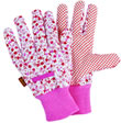 Ladies Ditzy Gardening Gloves in Pink