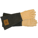 Small Image of Haws Leather Mens Gauntlets Gardening Gloves: Handmade & Thornproof