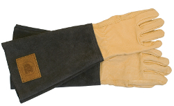 Image of Haws Leather Mens Gauntlets Gardening Gloves: Handmade & Thornproof