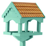 Gardman Self Assembly Painted Bird Table