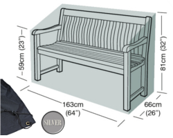 Image of Garden Bench Cover (3 Seater Bench) - Garland Silver Edition (Black) W1492