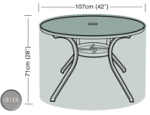 Small Image of Circular Table Cover (4 Seater) - Garland Silver W1360 (Black)