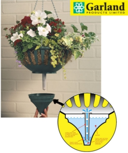 Image of Pair Of Garland Small Self Watering Hanging Baskets Green - G65G