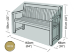 Garden Bench Cover (3 Seater Bench) - Garland Gold W1602