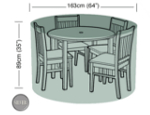 Small Image of Circular Furniture Cover (4 Seater) - Garland Silver W1392 (Black)