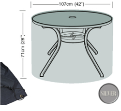 Image of Circular Table Cover (4 Seater) - Garland Silver W1360 (Black)