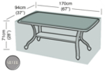 Small Image of Rectangular Table Cover (6 Seater Table) - Garland Silver W1376 (Black)