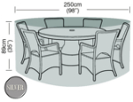 Circular Furniture Cover (6 to 8 Seater) - Garland Silver W1400