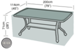 Small Image of Rectangular Table Cover (8 Seater Table) - Garland Silver W1380 (Black)