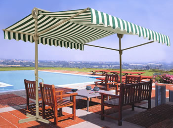Image of Retractable Sun Shade Awning - 3 x 3 meters