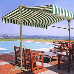 Small Image of Retractable Sun Shade Awning - 3 x 3 meters