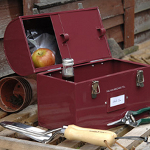 Small Image of Burgon & Ball Tool & Tuck Tin Box in Red