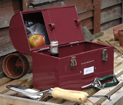 Image of Burgon & Ball Tool & Tuck Tin Box in Red