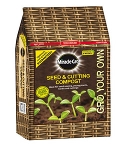 Image of Miracle Gro Seed and Cutting Compost 8 Ltr