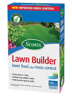 Image of Scotts Lawn Builder Lawn Food Plus Moss Control - 100 m2