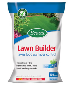 Image of Scotts Lawn Builder Lawn Food Plus Moss Control - 400 m2