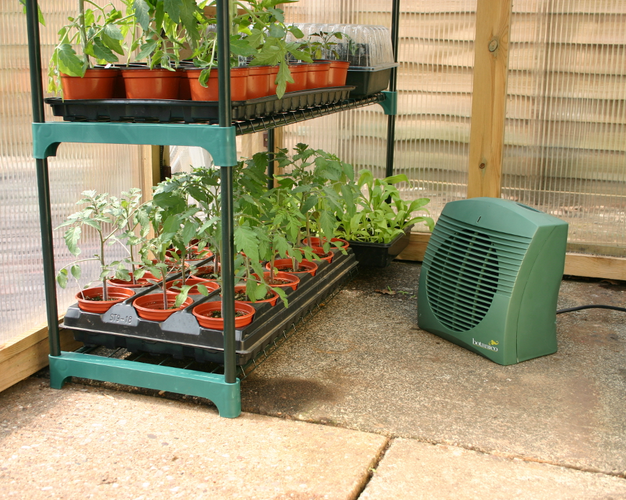 Backyard Greenhouse Heater : Botanico 2KW Electric Greenhouse Heater  ?3995  Garden4Less UK