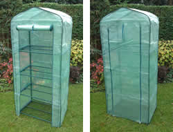 Image of 4 Tier Mini Greenhouse with Reinforced Cover