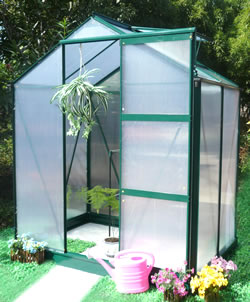 Image of Ascot Aluminium Greenhouse - 6 x 4 Ft