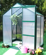 Small Image of Ascot Aluminium Greenhouse - 6 x 4 Ft