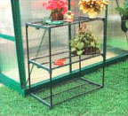 Metal Greenhouse Staging Shelving Green