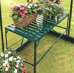 Aluminium Greenhouse Staging Shelving Green