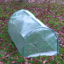 Image of Mini Greenhouse with Reinforced Cover - Semi-Circular