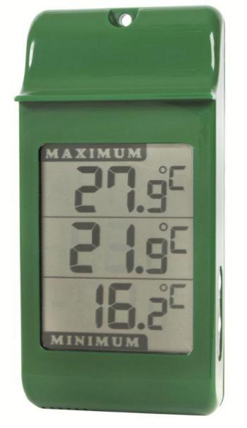 simplicity digital max min thermometer green. Black Bedroom Furniture Sets. Home Design Ideas