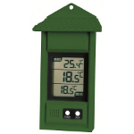 Small Image of Simplicity Greenhouse Thermometer with max/min function Green