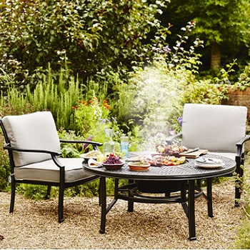 Image Of 2018 Jamie Oliver Classic 4 Seater Fire Pit Set   Bronze/Biscuit