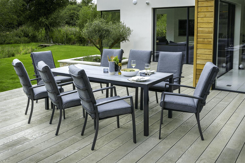 8 Seat Rectangular Dining Set, Modern Outdoor Dining Sets For 8