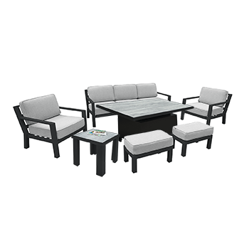 Image of Hartman Apollo Adjustable Lounge Set in Carbon/Pewter