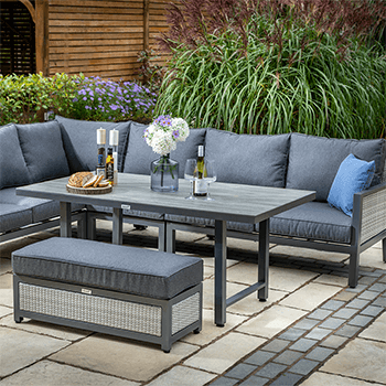 Image of Hartman Nouveau Rectangular Corner Sofa Set in Xerix/Slate