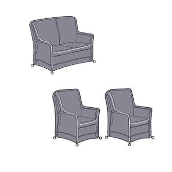 Image of Hartman Heritage 2 Seat Reclining Lounge Set Covers
